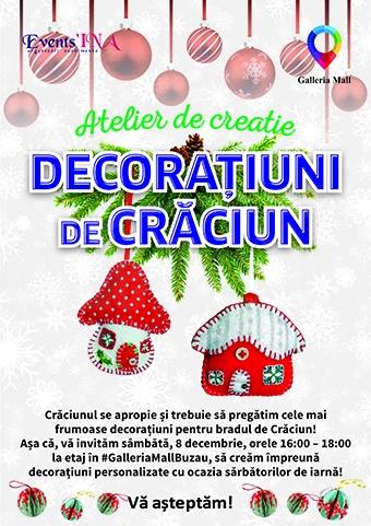 Atelier de Creatie decoratiuni de Craciun