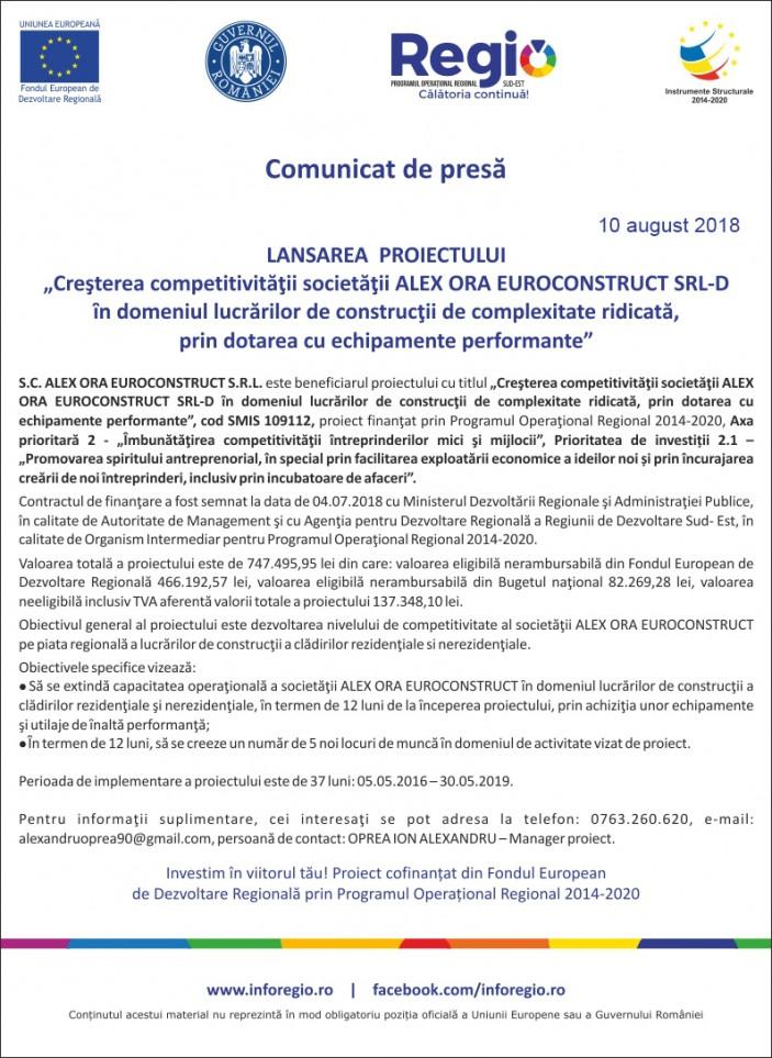 comunicat de presa ALEX ORA 10-08-2018