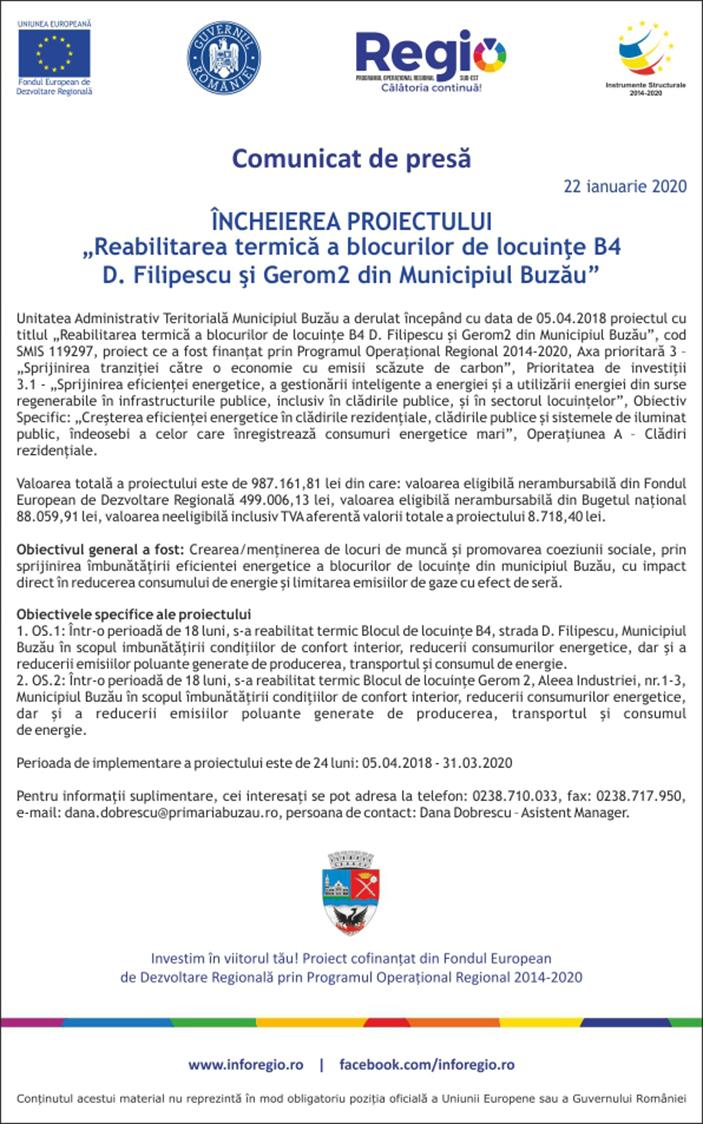 comunicat de presa UAT Mun Buzau 22-01-2020