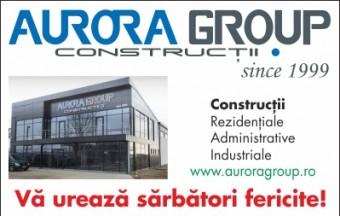 publicitate online Aurora Group - cu mesaj
