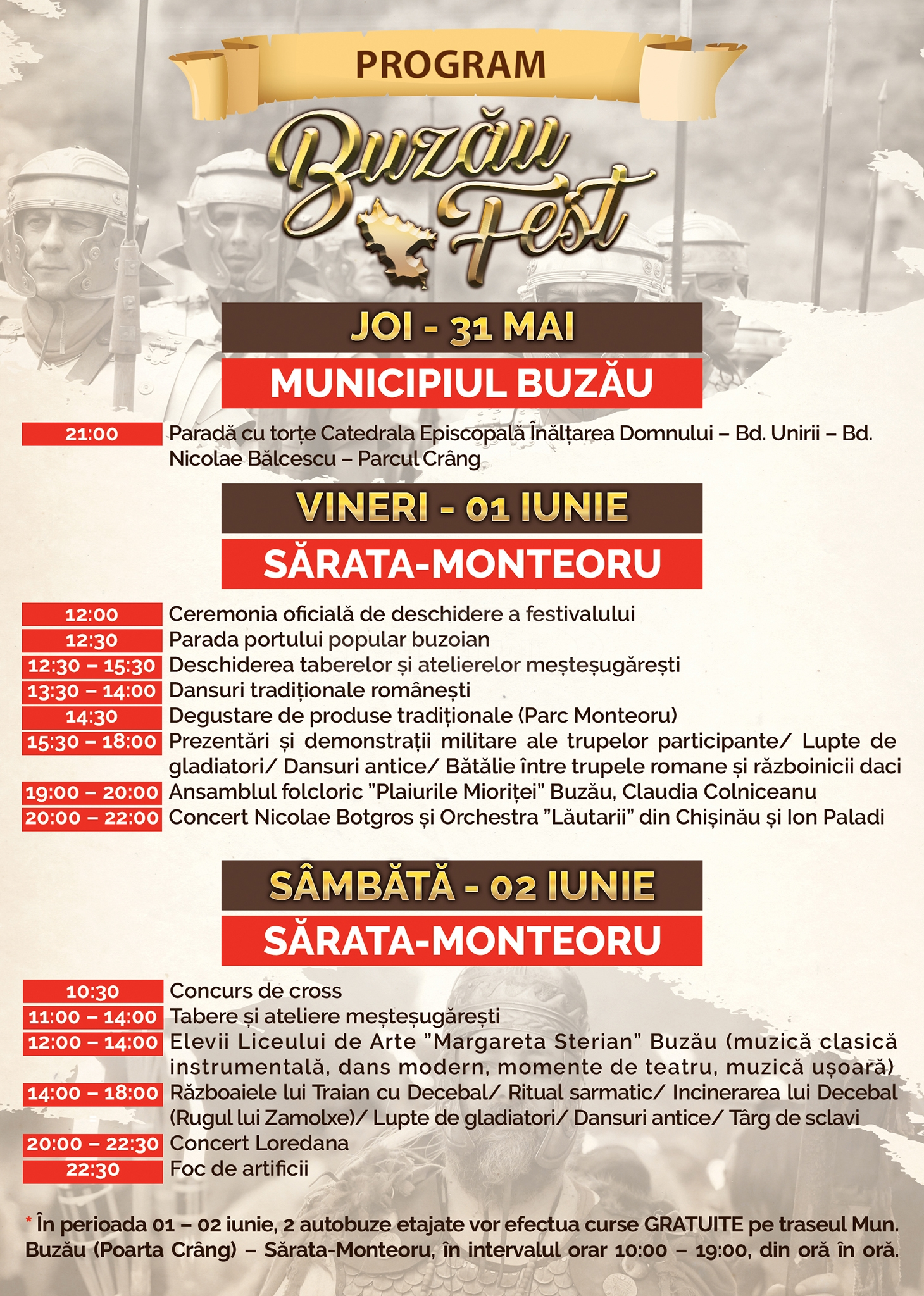 Buzau Fest Flyer Program Online