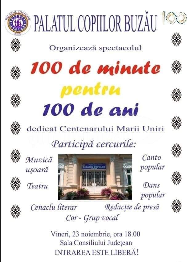 afiş spectacol Centenar Palatul Copiilor