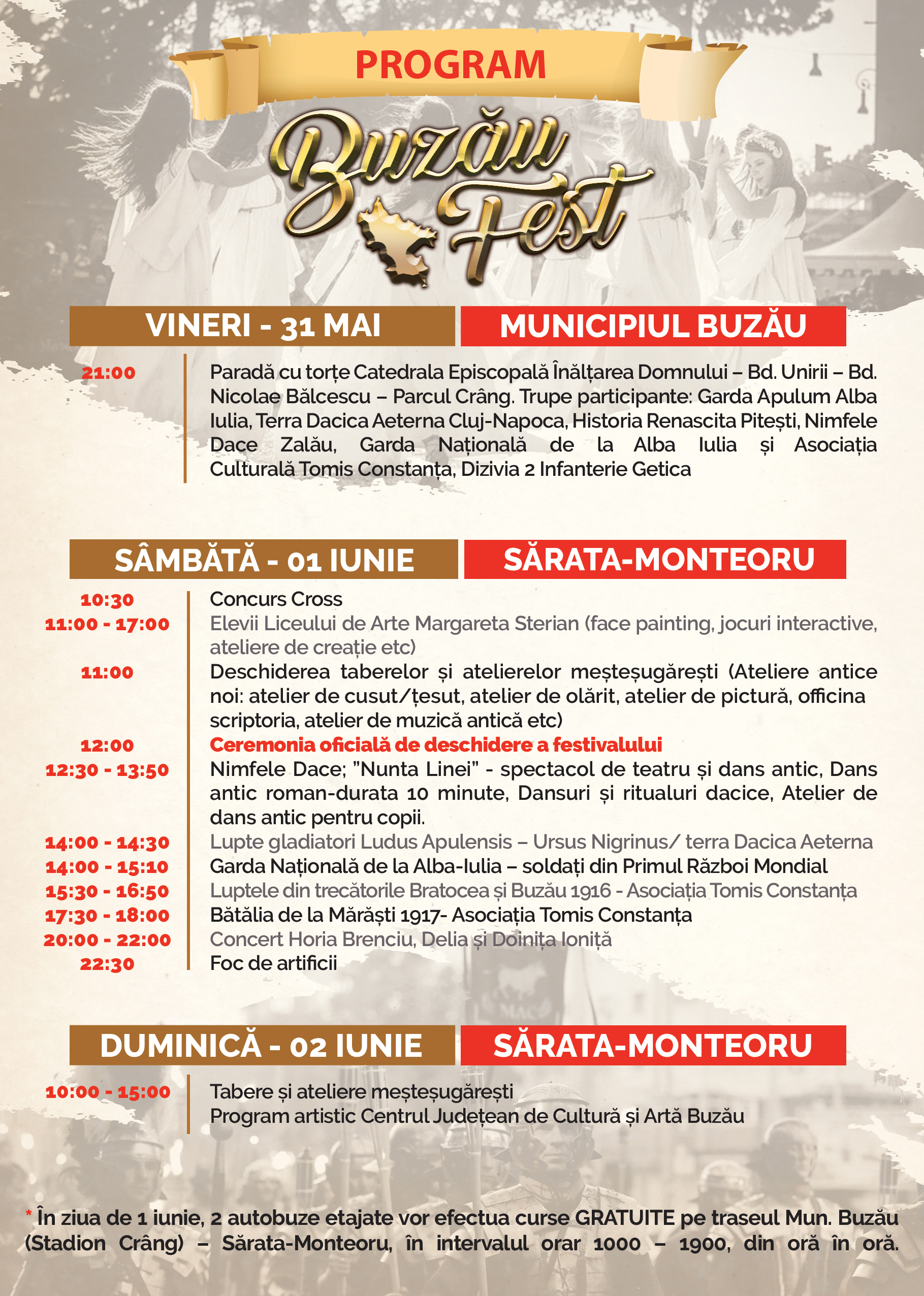 Buzau Fest Program